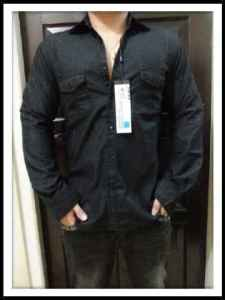 bp262 kemeja wasses black - 105rb, sz L(L54,P75) XL(L56,P75) highquality denim