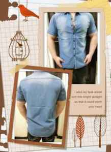 bp263 kemeja wasses pdk - 105rb, sz L54,P75 bahan highquality denim