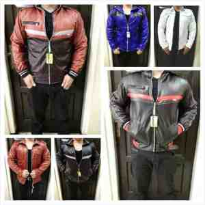BP287 Jaket Metalik Cowo@60rb , Bahan Latex, sz L55,P65