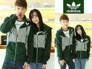 Cp989 couple stripe adidas - 90rb, sz cew L50,P62 cow L55,P68 babyterry