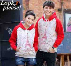 cp997 couple sweter paris red - 85rb sz cew L50 P62 cow L55 P68 babyterry