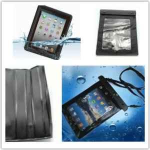Tablet waterproof cover @70rb, Dibuat melindungi tablet dalam air. Dapat digunakan untuk iPad, Samsung tablet dll. Ukuran lebar 21cm, panjang 27cm. Terbuat dari bahan PVC, dengan 2 layer sealer