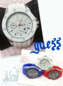 guess sporty watch grosir@50rb, eceran@65rb unisex, tali bahan rubber karet, diameter 5cm