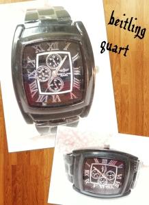 jam tangan breitling @40rb, tali rantai, diameter jam 4x5cm