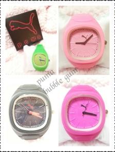 jam tangan puma bubble gum - grosir@50rb, eceran@65rb, tali rubber free box