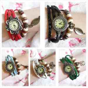 Jamtangan indian - 50rb tali leather, free box dan 1pc batre cadangan