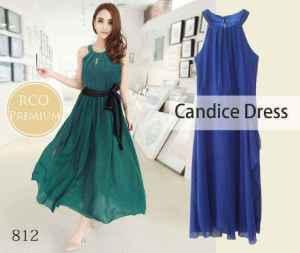 ip8873 candice dress - 100rb sz L36-45 P135 bahan sifon + dalaman
