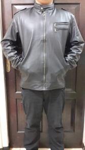 Bp400 jaket kulit cow - 200rb sz XXL(L58 P68) XXL(L62 P70) bahan kulit semi ori