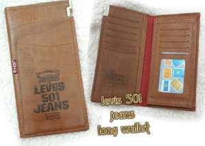 Dompet Levis 501 jeans long - 100rb, kw 1, bahan semi kulit buaya, 3slot uang, 1slot foto, 10slot kartu