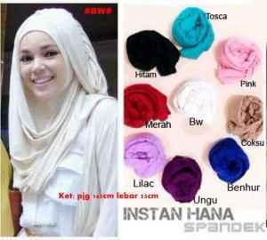 Instan hana - 30rb bahan spandek hijab instan lgsg pakai - ready tgl 11agus (merah sold)