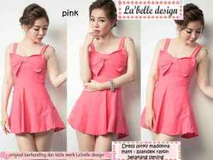 ip9119 dress pinky madonna - 48rb sz L40 P80 spandek rayon