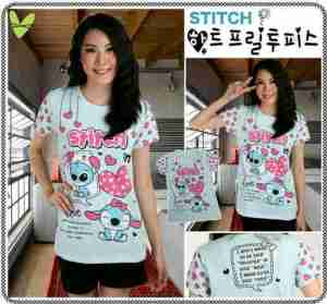 Ip9166 STITCH IN LOVE - 30rb sz L40 P70 bahan katun combed