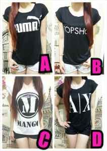 Ip9229 branded mix tee - 25rb sz L45 P65 spandel rayon