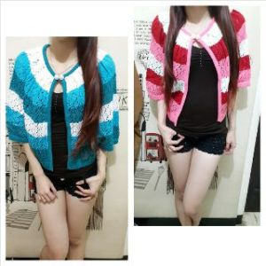 Ip9549 bolero kalong - 35rb fit xl bahan knitted rajut