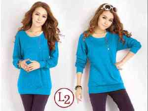 Ip9578 T-shirt Zelia Turquise - 43rb, sz L48 P72 spandek