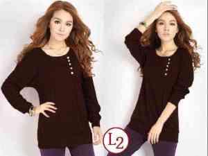 Ip9579 T-shirt Zelia Brown - 43rb sz L48 P72 spandek