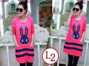 Ip9705 Dress Rabbit Fanta - 56rb sz L48 P82 Babyterry
