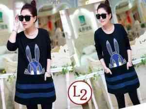 Ip9706 Dress Rabbit Black - 56rb, sz L48 P82 babyterry