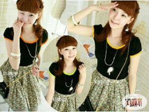 Ip9723 OV hitam - 35rb fit L spandex catton super