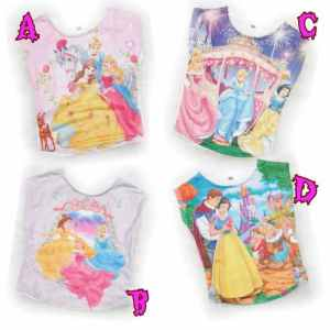 Ip9770 crop tee princess - 25rb fit 3-5thn bahan spandek korea