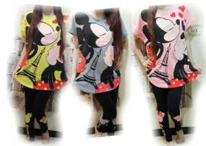 Ip9794 stelan Mickey kissing - 48rb sz baju L55 P72, legging L28-54 P94 bahan katun combed,  fit XL