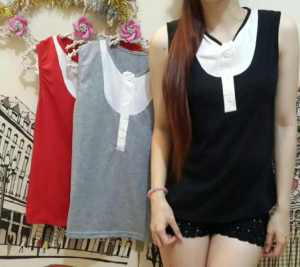 Ip9800 simple top button - 30rb sz L45 P65 bahan spandek, fit L