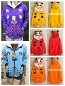 Jaket panda @55rb sz L48 P60 bahan fleece