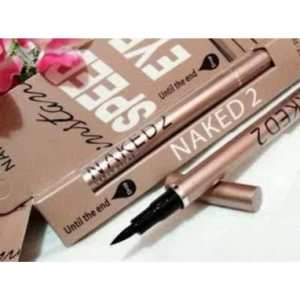 Naked2 eyeliner spidol - 30rb, model spidol, waterproof, warna hitam pekat, cocok untuk yang newbie gampang digunakan