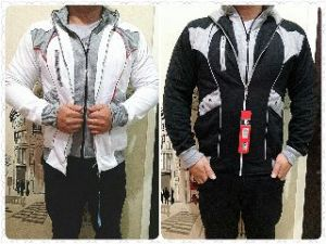Bp411 jaket double zipper benkrush - 60rb sz L58 P68 bahan fleece import