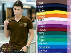 Bp415 MS vneck man tee - 40rb fit M spandex cotton super