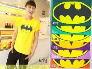 Bp416 Batman Logo @40rb fit M spandex cotton super
