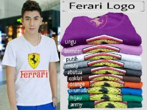 Bp425 Logo Ferari @40rb fit L spandex cotton super - Copy