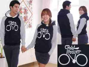 Cp1071 couple sweater hody power @85rb, sz cew L50 P60, cow L55 P65 bahan babyterry