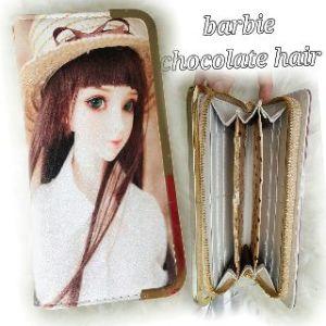 Dompet barbie coklat hair - 80rb, 5slot uang, 10slot kartu, 1slot sleting, ada tali pendek