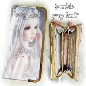 Dompet barbie  grey hair - 80rb, 5slot uang, 10slot kartu, 1slot sleting, ada tali pendek