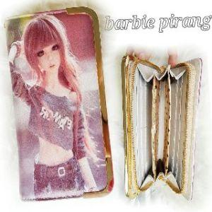 Dompet barbie rambut pirang  - 80rb, 5slot uang, 10slot kartu, 1slot sleting, ada tali pendek