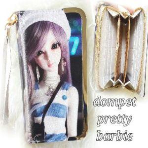 Dompet pretty barbie baju salur - 80rb, 5slot uang, 8slot kartu, 1slot sleting, ada tali pendek, kulit leather halus