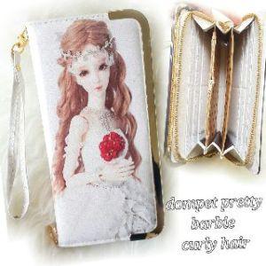Dompet pretty barbie curly hair - 80rb, 5slot uang, 8slot kartu, 1slot sleting, ada tali pendek, kulit leather halus