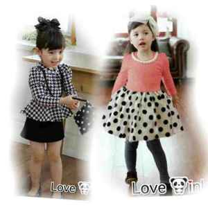 Ip10005 kids dress elegant  - 45rb sz L36 P60 spandek, free kalung mutiara