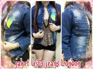 Ip10027 jaket levis jeans london - 120rb sz L44 P54 bahan jeans stretch, fit XL