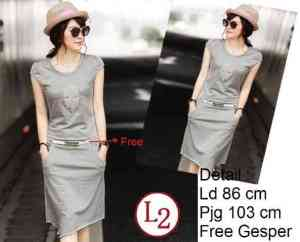 Ip10039 Dress Misty - 60rb sz L45 P82 Babyterry Free Belt