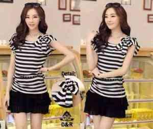 Ip10043 blouse stripe pita - 36rb spandek fit L