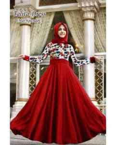 Ip10044 princess maxi - 75rb fit L, spandek, dress + pasmina