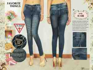 Ip10045 Guess Chinoo Destroy Blue Black - 100rb size 27-30 material softjeans good quality