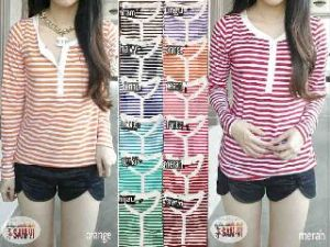 Ip10187 Buton salur @43rb fit L spandex cotton super