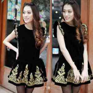 Ip10191 dress batik - 45rb sz L45 P90 bahan spandek(1)