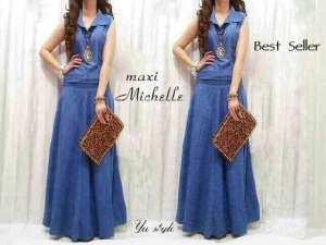 Ip1023  michelle maxi - 68rb sz L48 P132 bahan super denim