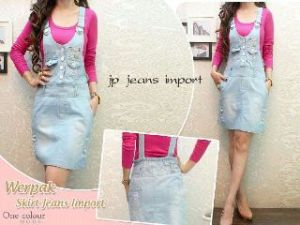 Ip1097 dress livia jeans impot - 105rb fit L, free inner spandex, dress jeans import