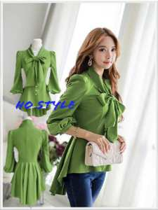 Ip1110 kemeja rainy green  - 58rb fit L bahan katun rayon