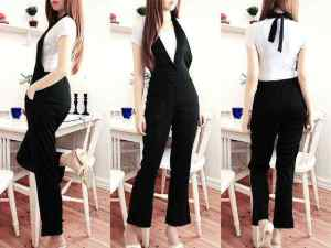 Ip1111 jumpsuit eveline - 82rb fit to L bahan paragon + inner kaos